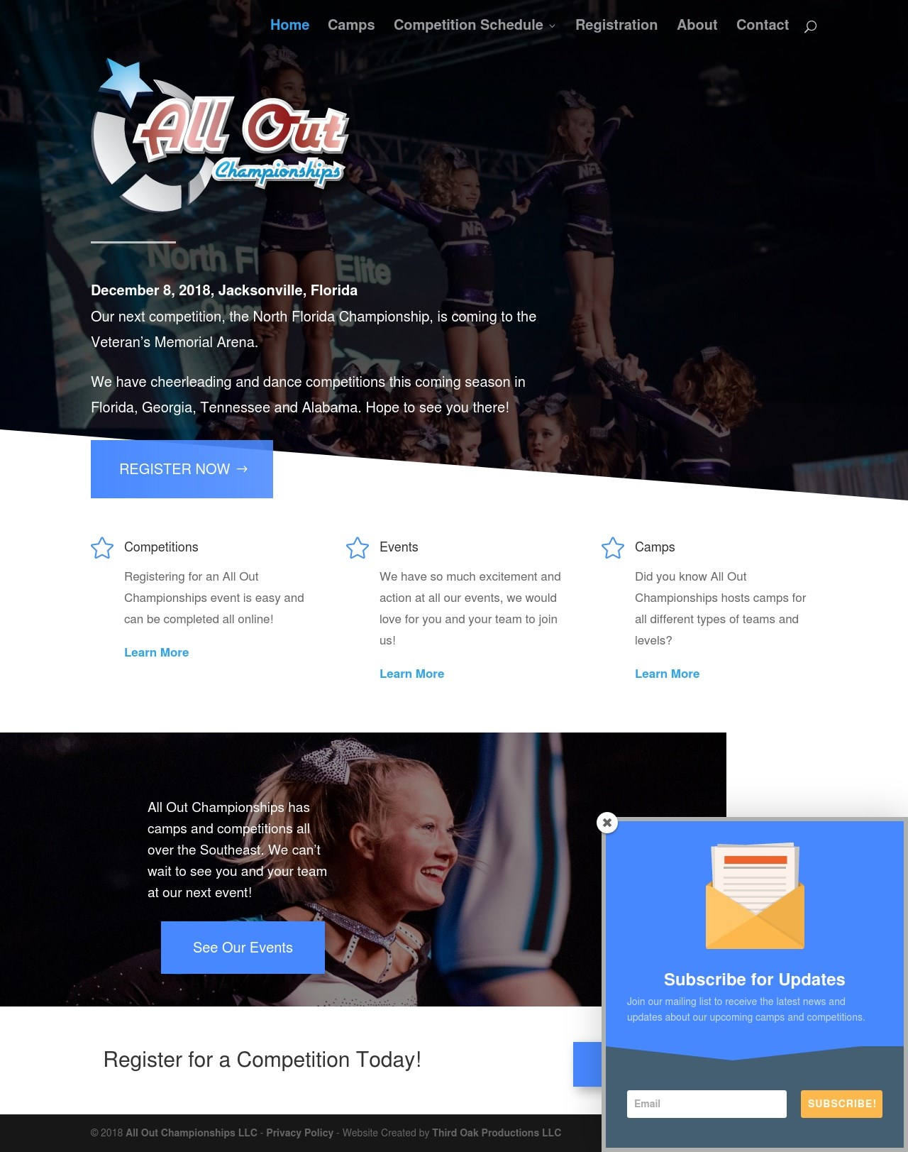 All Out Championships Homepage by Third Oak Productions LLC